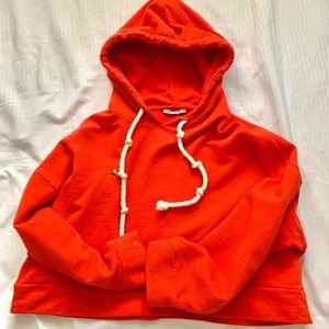ZARA red cropped hoodie